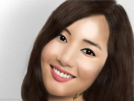 Park Min Young Realistic Digital Painting by whin