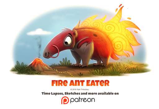 Day 1405. Fire Ant Eater by Cryptid-Creations