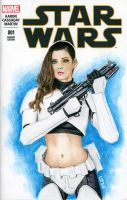 Star Wars #1 Sketch Cover LeeAnna Vamp Femtrooper by Geekincognito