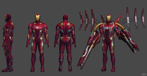 Ironman MK 50 - IW (XNA and FBX) by SSingh511