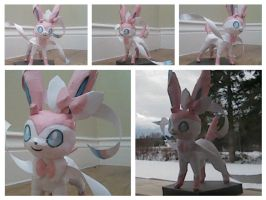 [HAPPY NEW YEAR/ PAPERCRAFT] Sylveon by GreatMasterofChibis