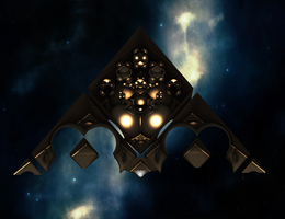 A Dussian ultraship in space II by Jakeukalane