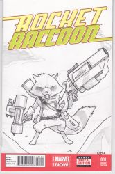 Rocket Raccoon - Sketch Cover by Alexander463