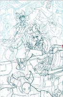 BDB back Cover WIP by endshark