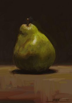 Study: Alla Prima Pear by DM7