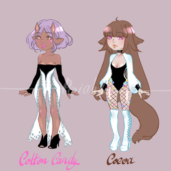 [Adoptables] Cotton Candy and Cocoa by Eeriah