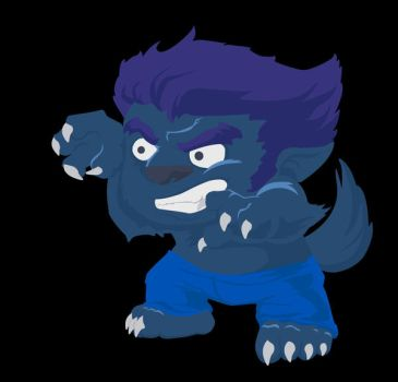 werewolf vector by renatothally