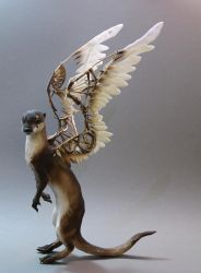 Otter with mechanical wings by creaturesfromel