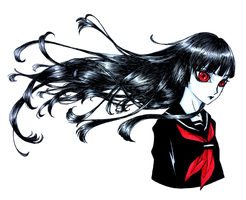 Enma Ai - Black Lily by SketchMeNot-Art