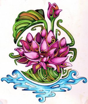 The Lotus by lauraborealisis