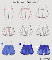 Step by Step - School girl Skirt by Saviroosje