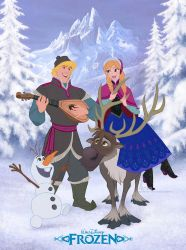Disney's FROZEN - Full Colour and in 2D! by davidkawena