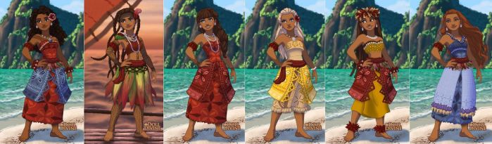 Maui and Moana's Daughters by TFfan234