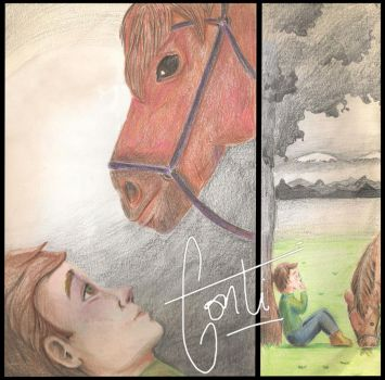Friend Horse and kid by kontti