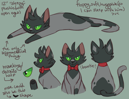 Kitty Damien Plush Concept by ClefdeSoll