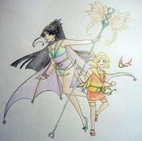 Oriental Butterfly and Phoenix by thelettergii