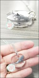 Commission - Great White Shark Necklace by PepperTreeArt
