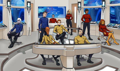 Crew of the USS Saratoga by SeekHim