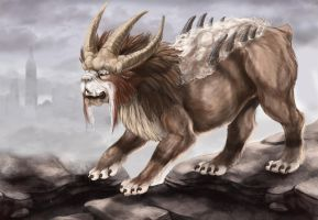 Realistic Entei by Leashe