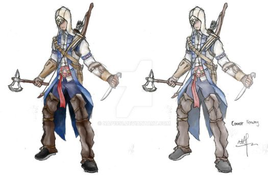 Connor Kenway Coloured by nap1991