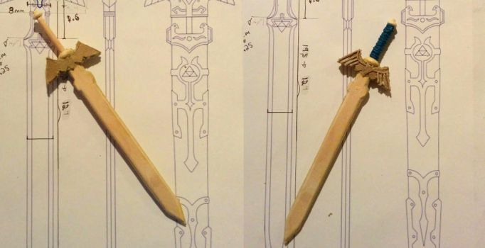 Mini Master Sword WIP 2 and 3 by kayanah