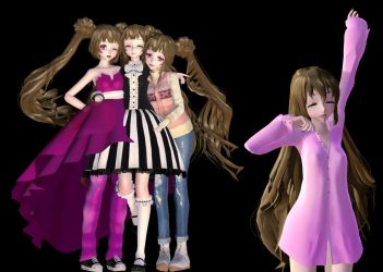 MMD model Show case i guess by SilverWingPrime