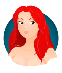 beauty redhead by solidqubex