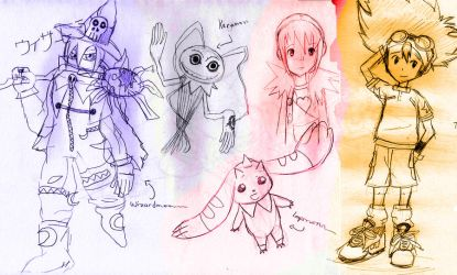 Digimon Sketches by anime-oblivion