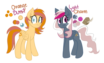 [OCS] Orange Burst and Light Charm [filler] by PaperKoalas