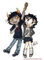 Hiveswap: Xefros and Joey by Waanmo