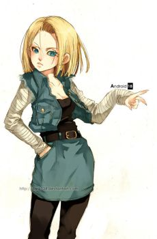 Android 18 by Dark134