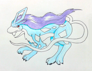 Suicune by GluryTheUnown