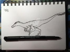 Velociraptor on a pen! by IcnoApril