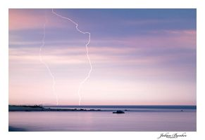 Lightning Over Lake Michigan by Julian-Bunker