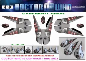 Doctor Who - Cybermat Army by mikedaws