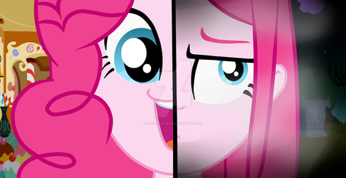 Pinkie (Pinkamena) - Two sides by Leslie-Faz-Bear