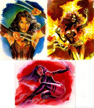 X-men artist proof cards by felipemassafera