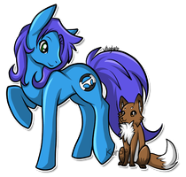 CO - Blue Blitz and Selarah by TricoloreOne77