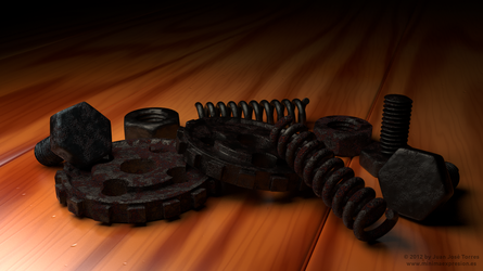 Fully Procedural Rust and Wood - A Materials Study by JuanJoseTorres