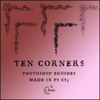 Corners Photoshop Brushes by Coby17