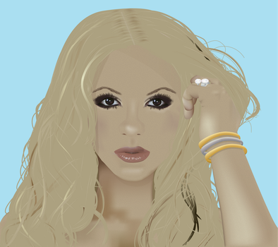 WIP Shakira - Illustrator by klnh13