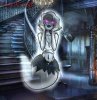 Gray the yandere Ghost femboy by ChaosCat08