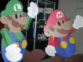 Paper Mario and Luigi Cosplay by Osmariobro