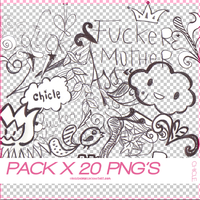 PACK 20 PNGS BLACKNWHITE by chicledeuva1
