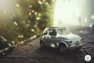FIAT all over Town : Sidewalk by Justinlite