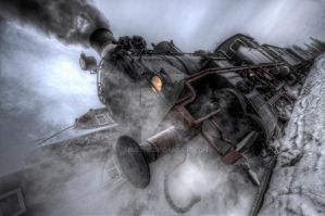 Steam and snow .. by abuethe