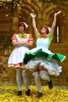 Lovely day- Chibitalia and Chibiromano cosplay by Voldiesama
