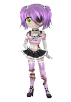 Zombie girl OTA [OPEN] **Comes with additional Art by Sweet-PrinceAdopts