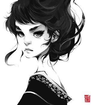 Geisha Illustration by vinciruz
