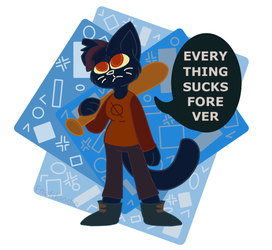 Mayday | Night in the Woods by Fnafdoodle